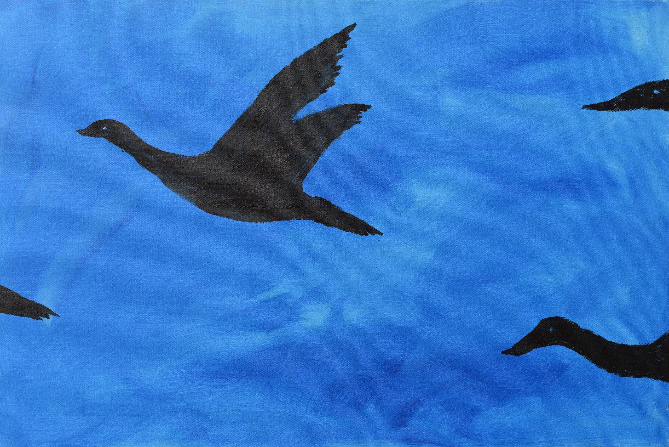 """2) Februari """"Vrije vogels"""" Maria van Boxtel"""